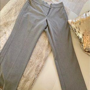 Ann Taylor Loft gray straight parts stretch 12p